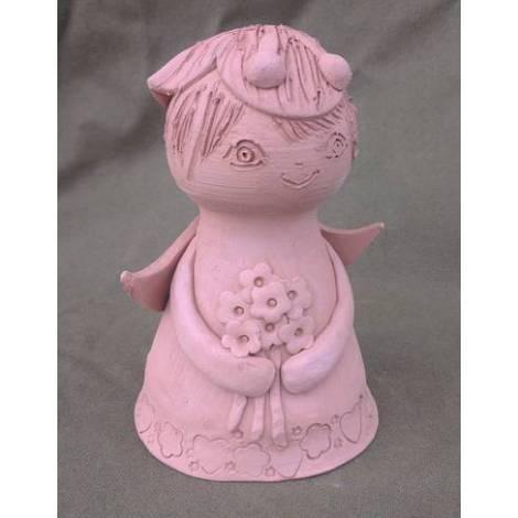 """Figurina ceramica 3d \""""fetita fluture\"""""""