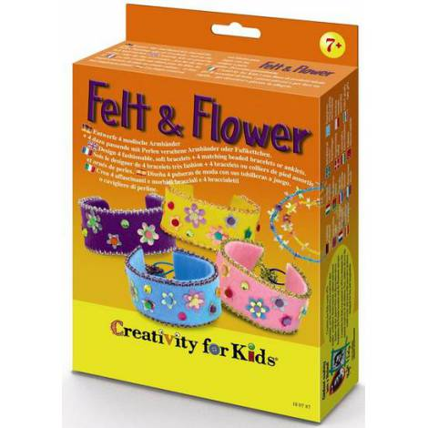 Set creativity bratari felt&flower