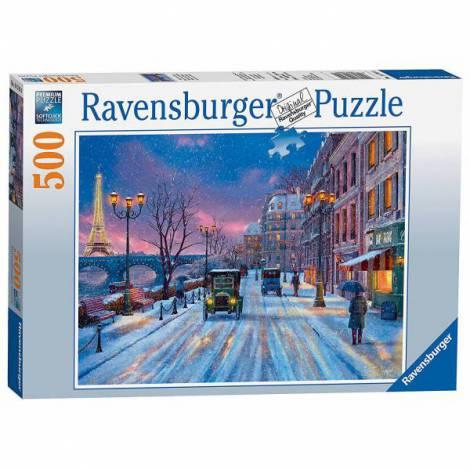 Puzzle Iarna in Paris, 500 piese