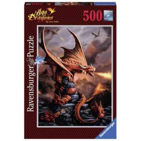 Puzzle Dragon inflacarat, 500 piese