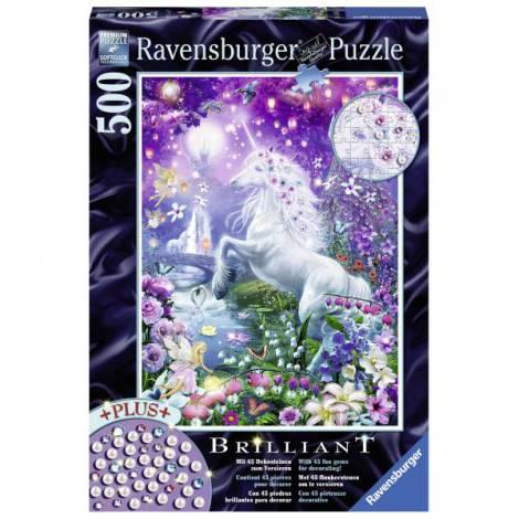 Puzzle unicorn in padure, 500 piese