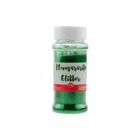 Pudra glitter verde