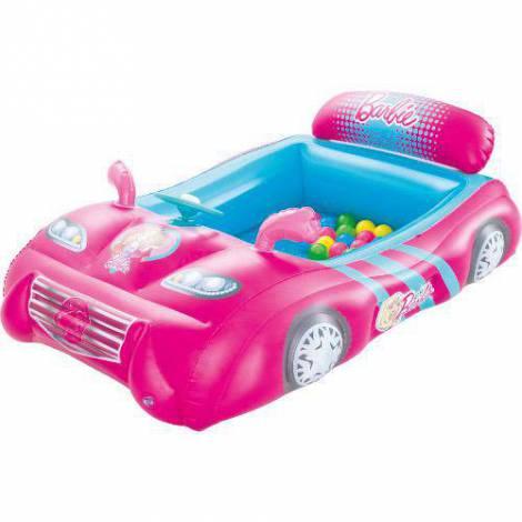 Masinuta de Curse Gonflabila Barbie cu 25 de Bile