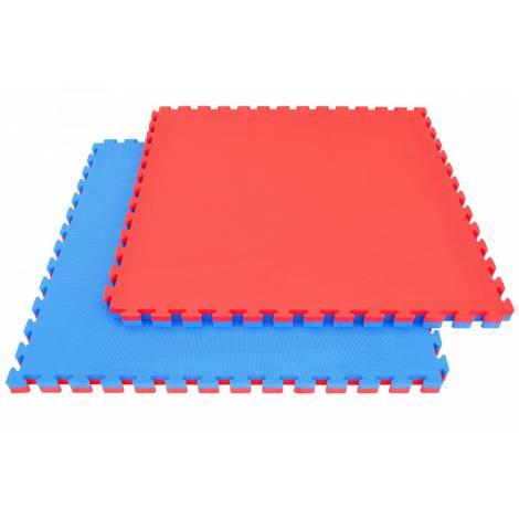 Pardoseala puzzle 2 cm pentru interior - Rosu - Albastru