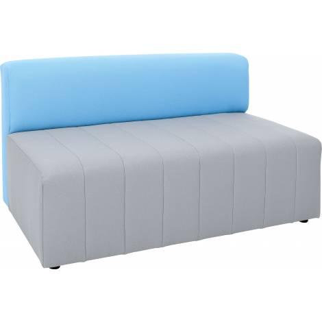 Canapea pentru gradinita gri-albastru Modern ignifug
