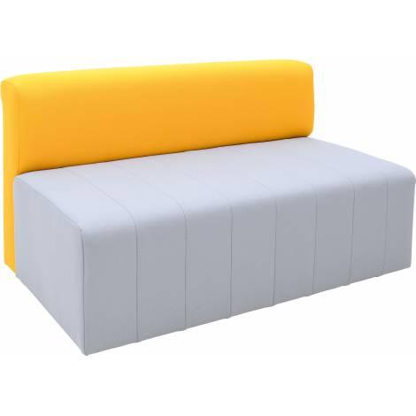 Canapea pentru gradinita gri-mustar Modern ignifug