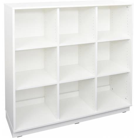 Dulap gradinita cu 9 compartimente si usi Quadro L alb