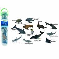 Tub cu 12 mini figurine Animale marine 1 Collecta