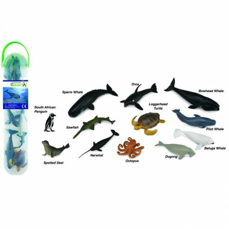 Tub cu 12 mini figurine Animale marine 2 Collecta