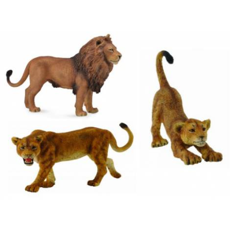 Set 3 figurine Familie de Lei Africani