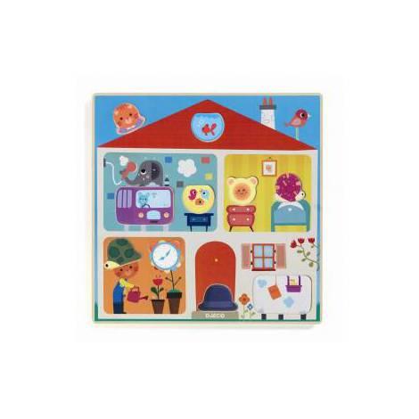 Puzzle Djeco Swapy, cu piese interschimbabile