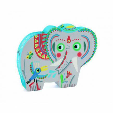Puzzle Djeco Elefantul asiatic