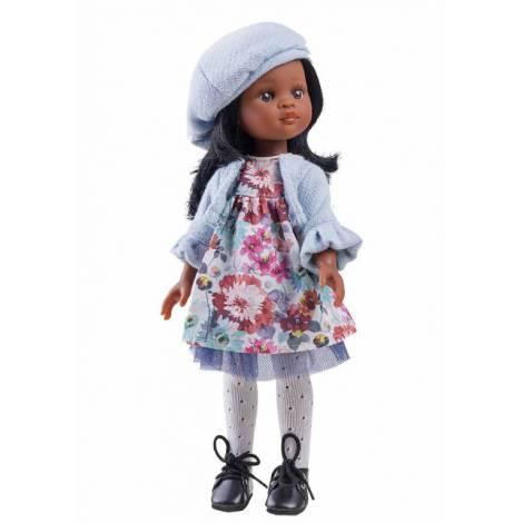 Papusa Nora in rochie cu floricele Paola Reina