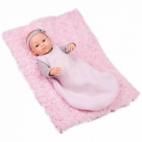 Papusa bebelus in sac de dormit cu paturica - MINI PIKOLIN Paola Reina
