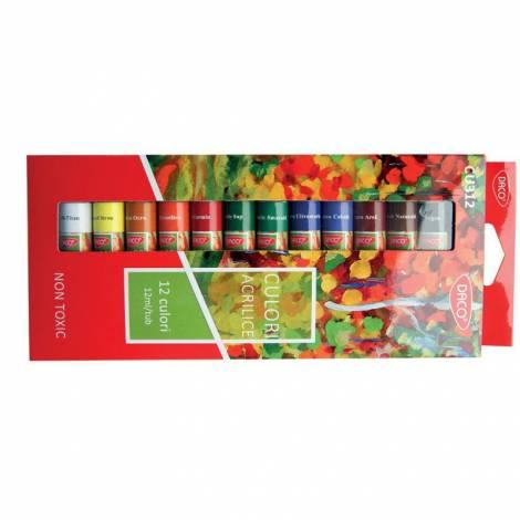 Culori Acril - 12 culori