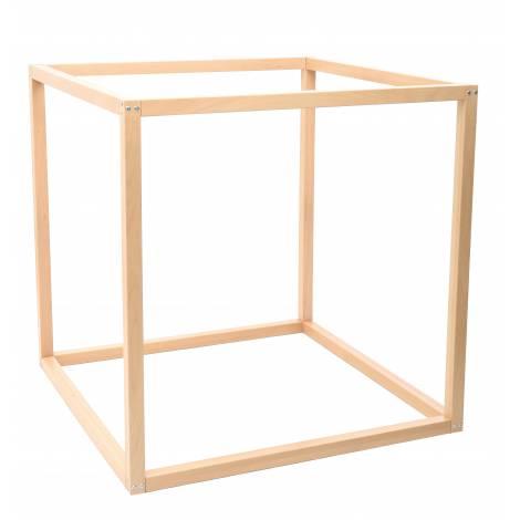 Cub din lemn pentru accesorii senzoriale