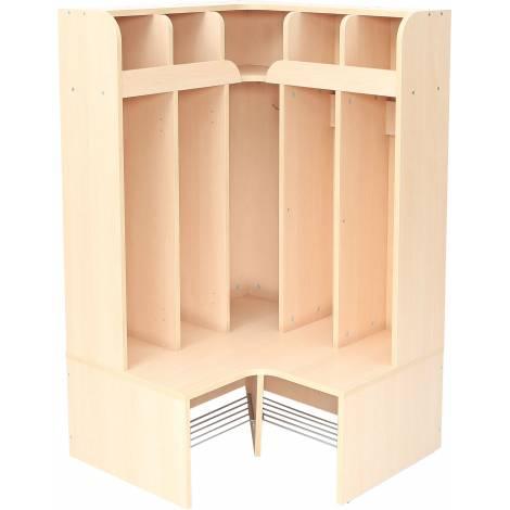 Cuier Vestiar - Mariposa - pentru colt - 5 compartimente - scund