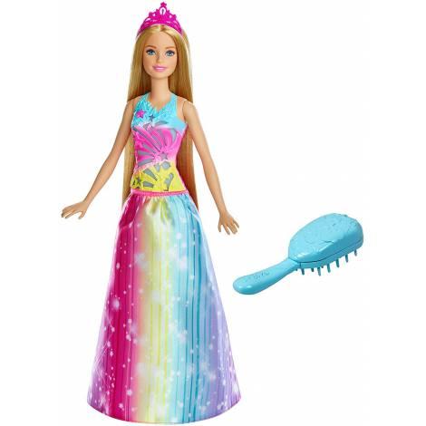 Papusa Mattel Barbie Dreamtopia Printesa cu perie