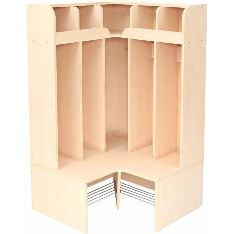Cuier Vestiar - Mariposa - pentru colt - 5 compartimente - inalt