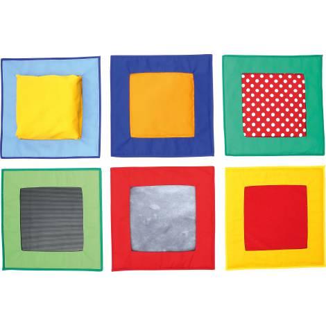 Set 6 patrate senzoriale cu texturi