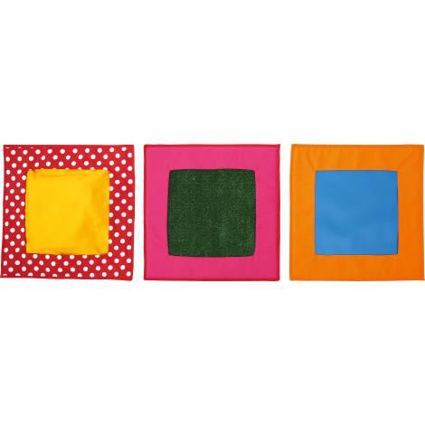 Set complementar 3 patrate senzoriale cu texturi