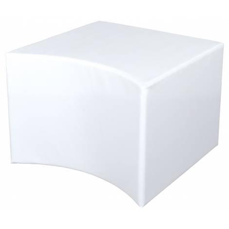 Puf alb concav 44 cm