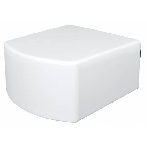 Puf convex alb 34 cm
