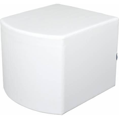 Puf convex alb 54 cm