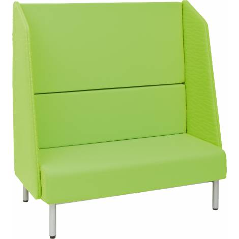 Canapea verde Arkadia Silence cu rezematoare inalta