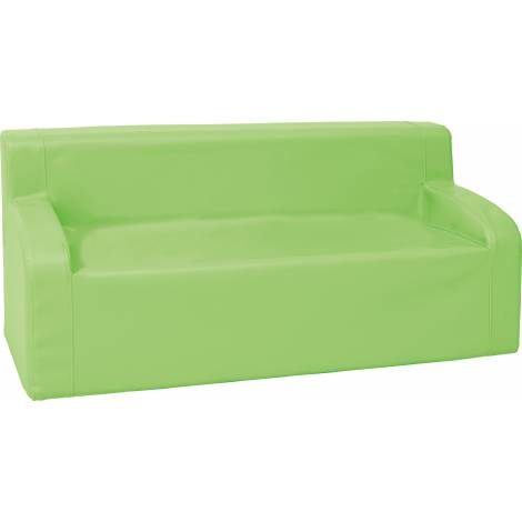 Canapea cu brate din spuma verde