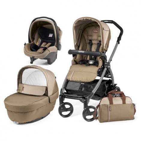 Carucior 3 in1, Peg Perego, Book Plus 51 Black Class
