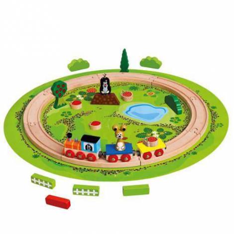 Trenulet Cu Sina Circulara Little Mole imagine