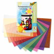 Set 10 coli hartie transparenta colorata