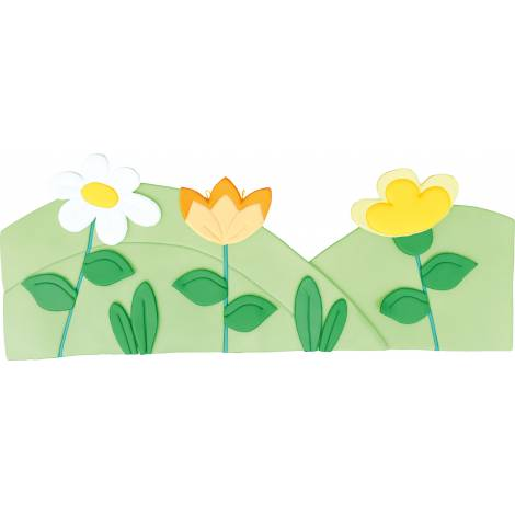 Aplicatie pentru perete - Poienita - Verde deschis