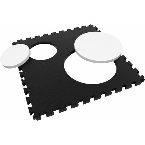 Saltea puzzle 3D Creative Alb-Negru