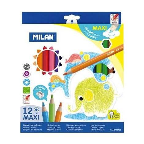 Set 12 creioane colorate Maxi - Milan