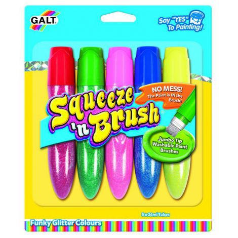 Squeezen brush - 5 culori cu sclipici