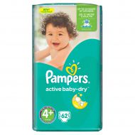 Scutece Pampers 4 Active Baby 9-20kg (62)buc