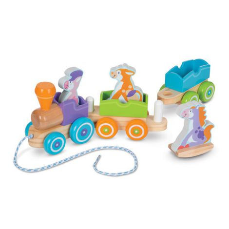 Trenulet din lemn cu animale - Melissa and Doug
