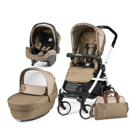 Carucior 3 in 1, Peg Perego, Book Plus 51 Black&White Class