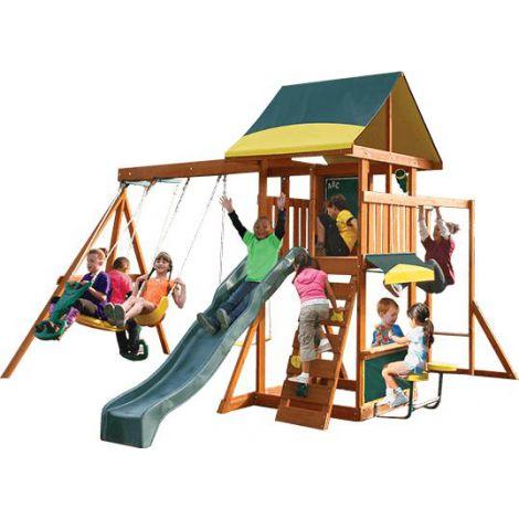 Complex de joaca din lemn Brookridge cu leagane Kidkraft