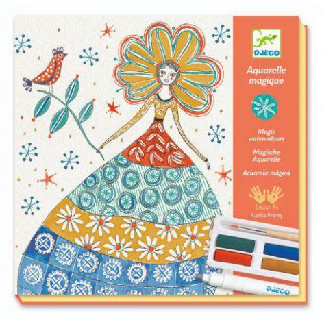 Atelier creativ de pictură Djeco, Rochii cu flori