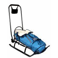 Sanie salto + scaulet material polar albastru