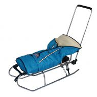 Sanie sante + scaulet material polar albastru