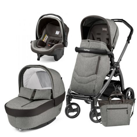 Carucior 3 In 1, Peg Perego, Book Plus S, Black, Team
