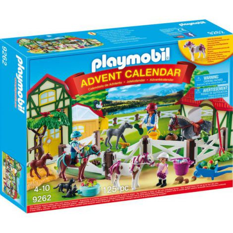 Calendarul de Craciun Playmobil Ferma Calutilor