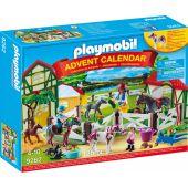 Calendarul de Craciun Playmobil Ferma Calutilor