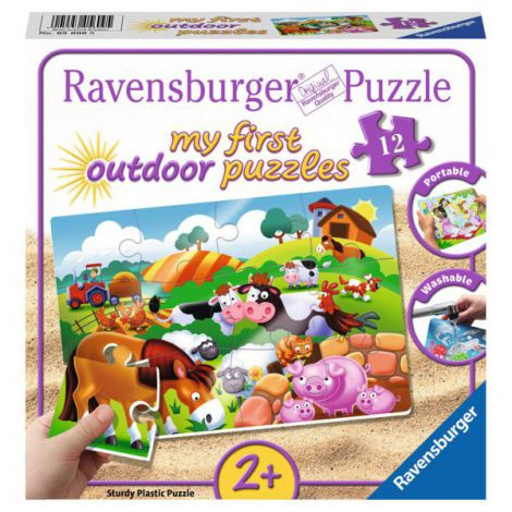 Puzzle animale la ferma, 12 piese