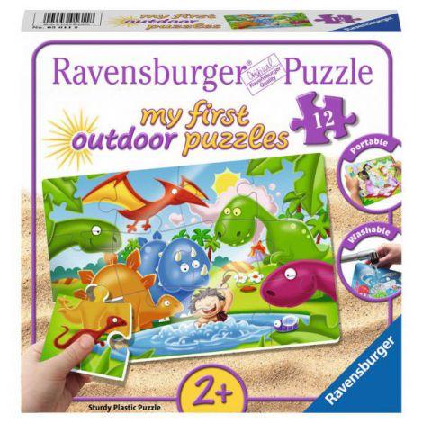 Puzzle dinozauri, 12 piese