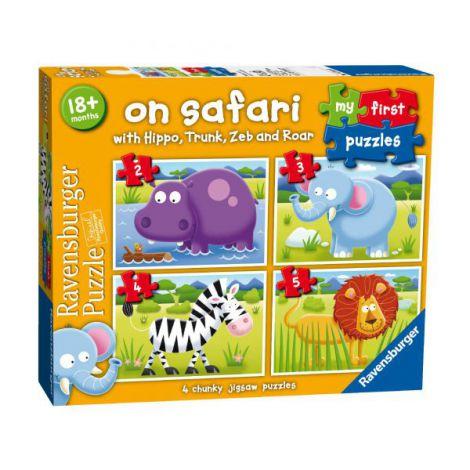 Puzzle safari, 2/3/4/5 piese